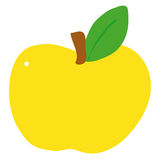 Apple. Illustration of a yellow apple Royalty Free Stock Photo