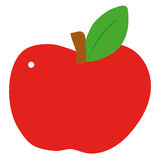 Apple. Illustration of a red apple Stock Image