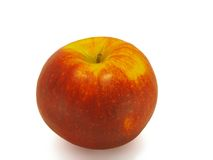 Apple. Ripe apple on a white background stock images