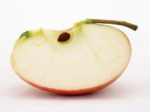 Apple. Quarter of Apple on white background Royalty Free Stock Photography