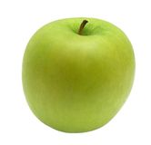 Apple. Ripe green apple on a white background Royalty Free Stock Photography