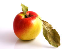 Apple. On white background. Close-up Stock Photo