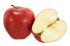 Apple. Red delicius apples isolated on white stock photos