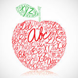 Apple. Made of alphabet letters Vector Illustration
