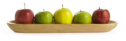 Apple. S,  variety in tray, colours Royalty Free Stock Photography