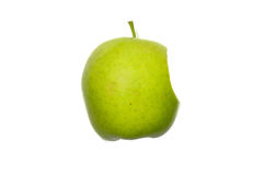 Apple. Green apple on white background Stock Photography