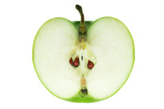 Apple. Green apple . Isolated over white background Royalty Free Stock Images