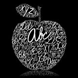 Apple. Made of alphabet letters Royalty Free Stock Photos