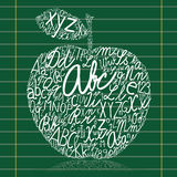Apple. Made of alphabet letters Stock Images
