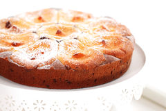 Apple乳酪蛋糕 免版税图库摄影