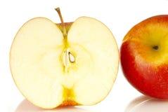 Apple. Fresh apple on white background Stock Photos
