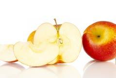 Apple. Fresh apple on white background Stock Image