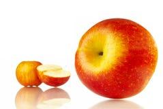 Apple. Fresh apple on white background Royalty Free Stock Photos