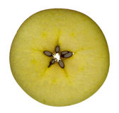 Apple. Cut in thin layer Stock Photos