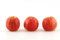 Apple. Some red and yellow apple in front of a white background Stock Image