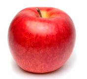 Apple. Image of a red apple over white background Royalty Free Stock Photo
