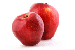 Apple. Two apples isolated on the white Royalty Free Stock Photography