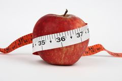 An apple with 36 measurement Stock Image