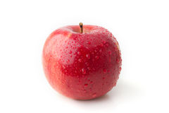 Apple. Red white isolated background Stock Image