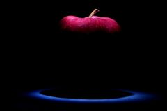 Apple. Fresh whole apple on the black background Stock Images