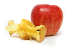 Apple before and after Royalty Free Stock Image
