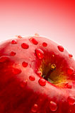Apple. With droplet of water Royalty Free Stock Photo