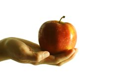 Apple. Give an apple for health conscious Royalty Free Stock Photo