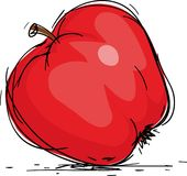 Apple. Red juicy apple,vector illustration Royalty Free Stock Photos