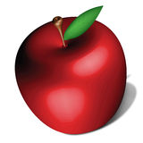 An apple. Illustration of delicious red apple Royalty Free Stock Photo