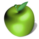 An apple. Illustration of delicious green apple Stock Photography