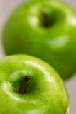 Apple 7. Photograph in study of the fruit, showing details Stock Photography