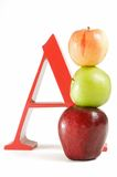 A is for Apple Stock Image