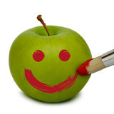 Apple. Fresh apple painted with red color Stock Photo