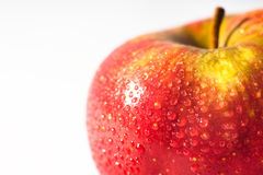 Apple. Calorie, close-up, drop, food royalty free stock photography
