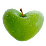 Apple. Fresh apple illustrated as a heart Royalty Free Stock Photos