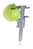 Apple. Trimmel with apple isolated on white. Clipping paths Stock Photo