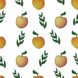 Apple  abstract seamless pattern Stock Photos