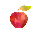 Apple with abstract texture Royalty Free Stock Photos