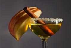 Apple-alcoholische drank met kaneel Stock Foto's