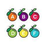Apple-Alfabetmalplaatje royalty-vrije illustratie