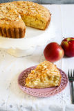 Apple and almond pie Royalty Free Stock Photo