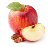 Apple with almond Royalty Free Stock Photos