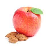 Apple with almonds. Royalty Free Stock Images