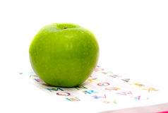 Apple and the alphabet. Royalty Free Stock Images