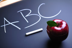 Apple and alphabet Royalty Free Stock Images