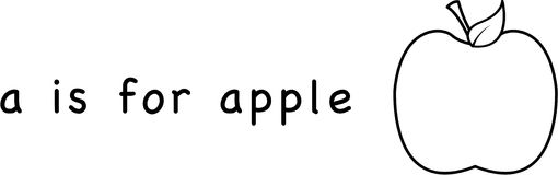 A is for Apple Stock Images