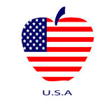 Apple american Royalty Free Stock Image