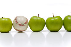 Apple And A Baseball Stock Images