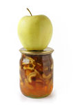 Apple And Apple Jam Royalty Free Stock Photo
