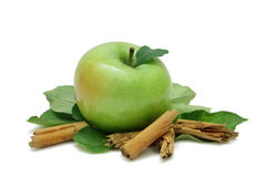 Apple And Cinnamon Royalty Free Stock Photos
